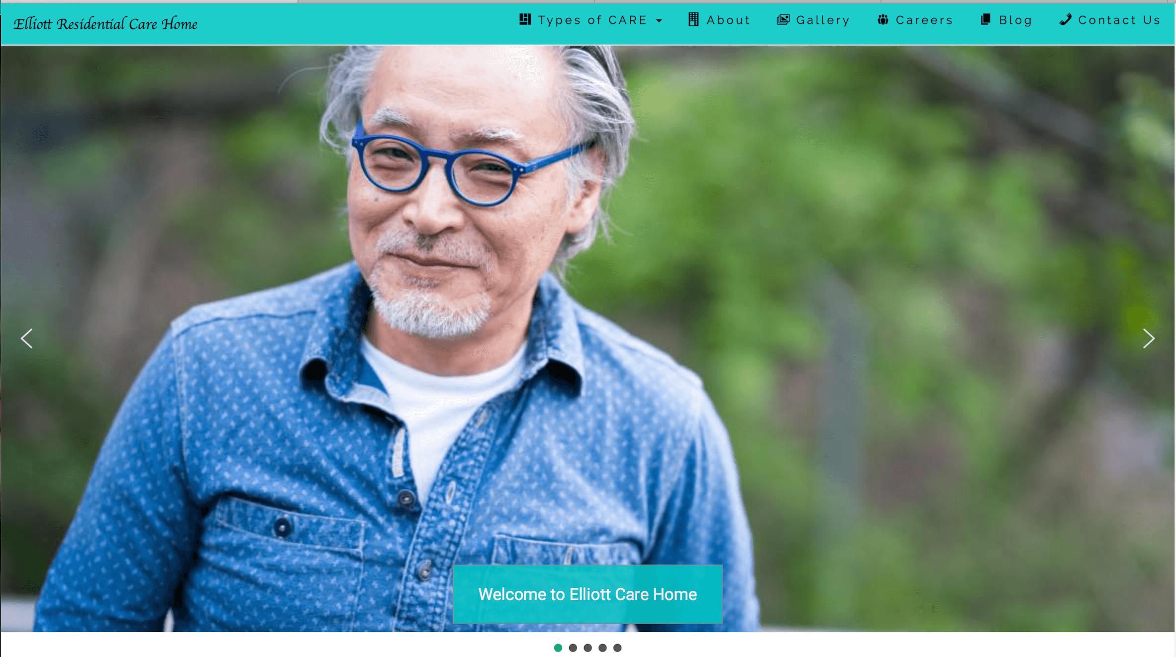 Elliott residential care home website