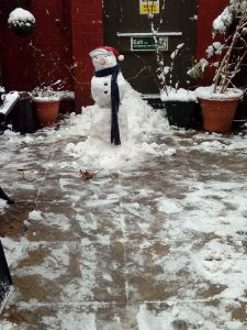 snow man - Elliott care homes leicester